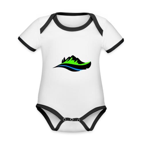 Modern Hoodie Unisex - Ekologisk kontrastfärgad kortärmad babybody