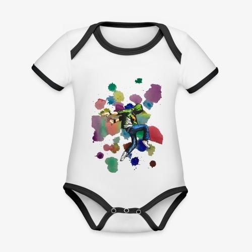 Dancer - Organic Baby Contrasting Bodysuit