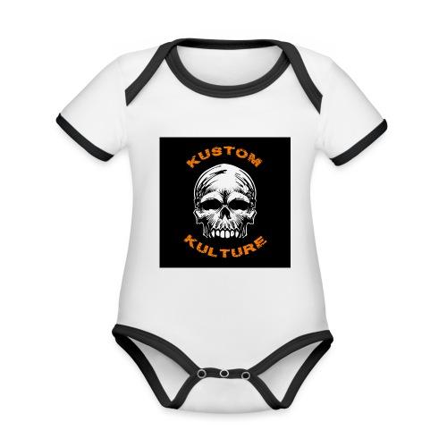Sans Maxilaire - Body Bébé bio contrasté manches courtes