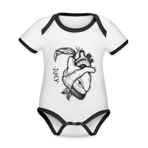 Apple Heart B - Body contraste para bebé de tejido orgánico