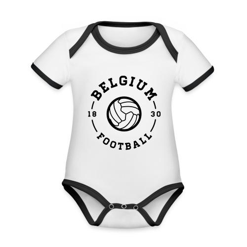 Belgium football - Belgique - Belgie - Body Bébé bio contrasté manches courtes