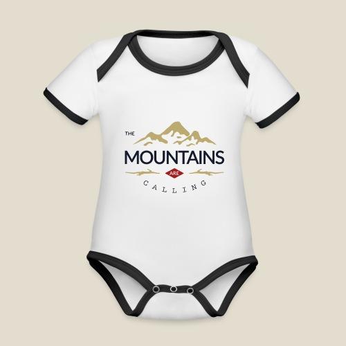 Outdoor mountain - Body Bébé bio contrasté manches courtes