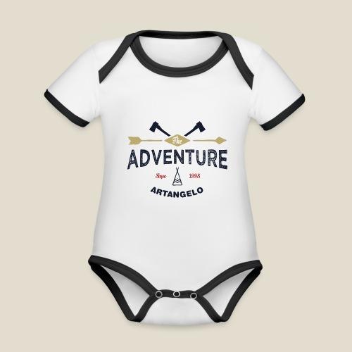 Outdoor adventure - Body Bébé bio contrasté manches courtes