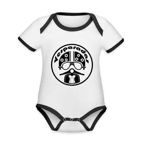 Vesparadas - Baby contrasterend bio-rompertje met korte mouwen