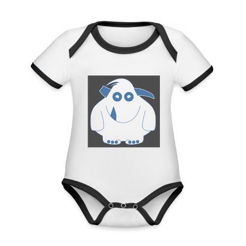 Pinky Monster - Organic Baby Contrasting Bodysuit