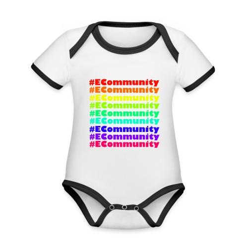 Ecommunity Rainbow - Baby Bio-Kurzarm-Kontrastbody