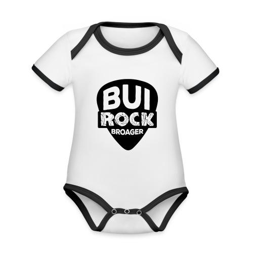 BUI ROCK - Kortærmet økologisk babybody i kontrastfarver