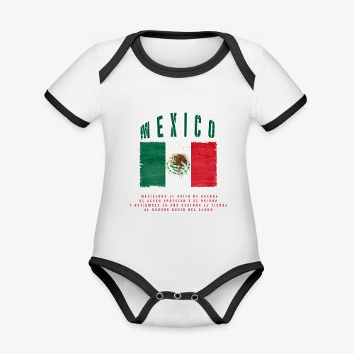 Mexican Flag Bandera Mexico - Baby Bio-Kurzarm-Kontrastbody