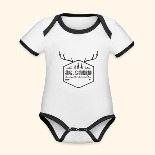 ac camp - Body da neonato a manica corta, ecologico e in contrasto cromatico