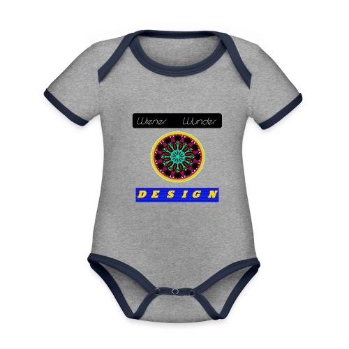 Wiener Wunder Design Logo #2 - Baby Bio-Kurzarm-Kontrastbody