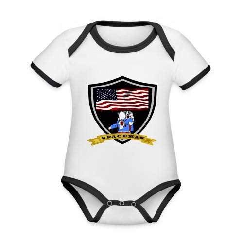 Spaceman Design - Baby Bio-Kurzarm-Kontrastbody