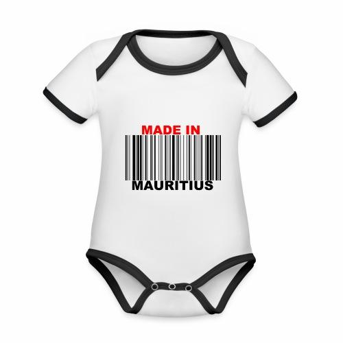 MADE IN MAURITIUS - Body Bébé bio contrasté manches courtes