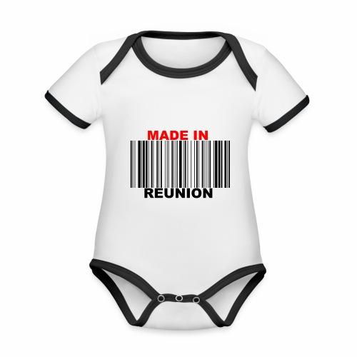 MADE IN REUNION - Body Bébé bio contrasté manches courtes