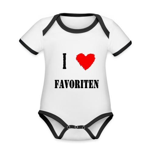 ich liebe favoriten - Baby Bio-Kurzarm-Kontrastbody