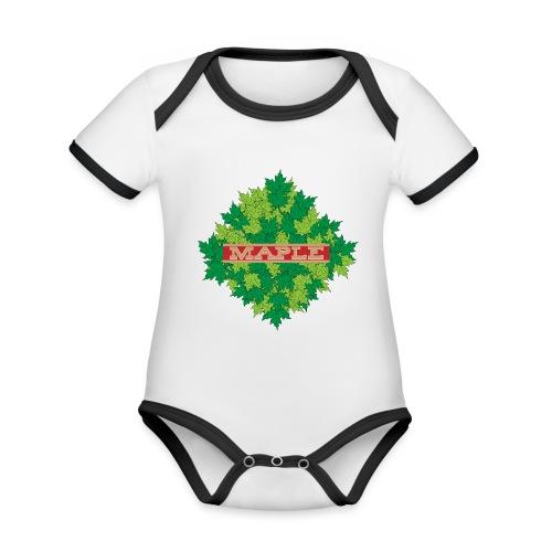 maple - Baby Bio-Kurzarm-Kontrastbody