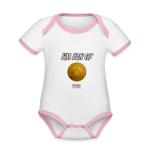 I'm fan of Eos - Body da neonato a manica corta, ecologico e in contrasto cromatico