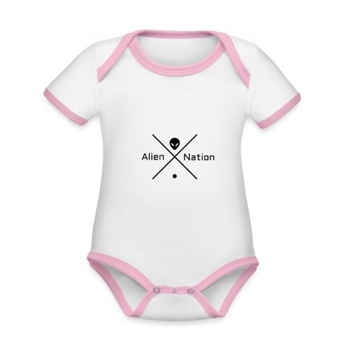 Alien Nation - Body Bébé bio contrasté manches courtes