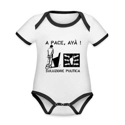 A PACE AVA 2 - Body Bébé bio contrasté manches courtes