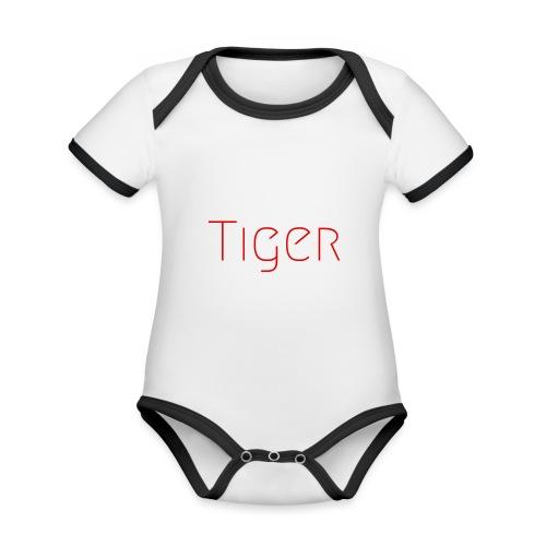 Tiger - Body Bébé bio contrasté manches courtes