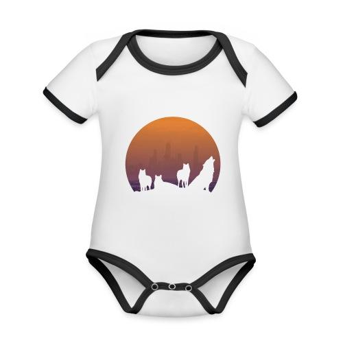 Wolfsrudel - Baby Bio-Kurzarm-Kontrastbody