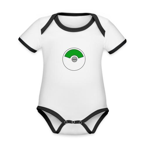 Flierp Vrij - Baby contrasterend bio-rompertje met korte mouwen