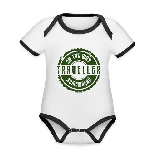FP13 TR-02 ON THE WAY SOMEWHERE-TRAVELLER PRODUCTS - Vauvan kontrastivärinen, lyhythihainen luomu-body