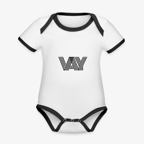 VAY - Baby Bio-Kurzarm-Kontrastbody