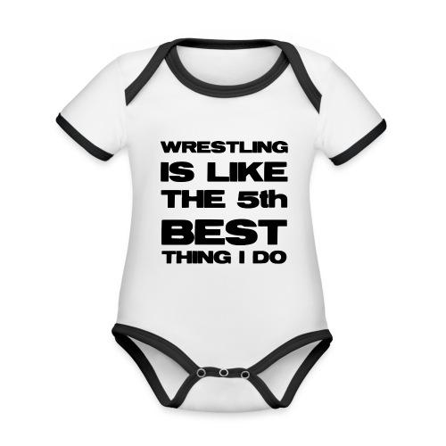 5thbest1 - Organic Baby Contrasting Bodysuit