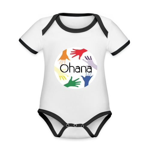 Ohana heißt Familie - Baby Bio-Kurzarm-Kontrastbody