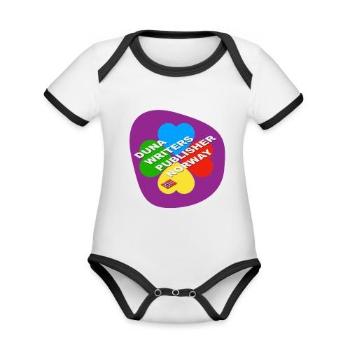 Duna Writers - Økologisk kortermet kontrast-babybody