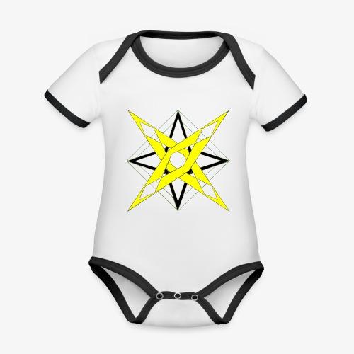 dessin 5 - Body Bébé bio contrasté manches courtes