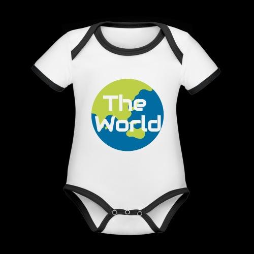 The World Earth - Kortærmet ækologisk babybody i kontrastfarver