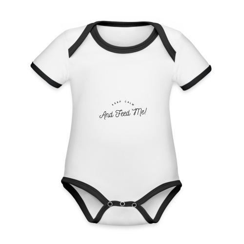 Baby Bekleidung mit lustigem Spruch, Geschenkidee - Baby Bio-Kurzarm-Kontrastbody