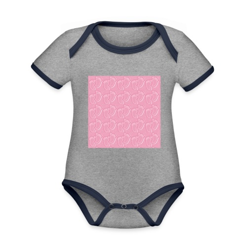kidfootprint a14 - Organic Baby Contrasting Bodysuit