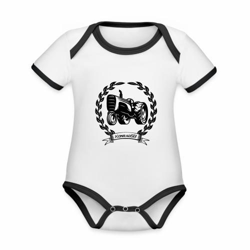 KonradSB - Ekologiczne body niemowlęce z krótkim rękawem i kontrastowymi lamówkami