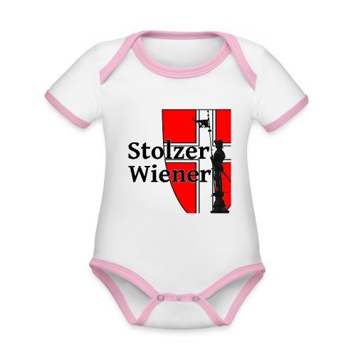 Stolzer Wiener - Baby Bio-Kurzarm-Kontrastbody