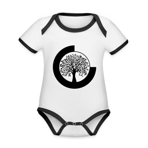 YANTOTBY Logo - Baby contrasterend bio-rompertje met korte mouwen