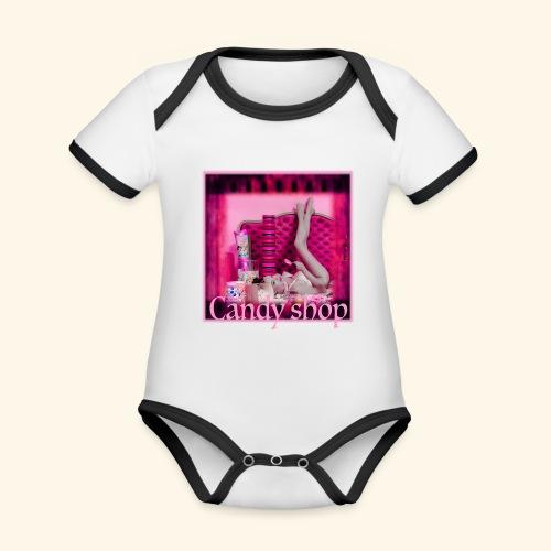 CANDY SHOP - Body Bébé bio contrasté manches courtes