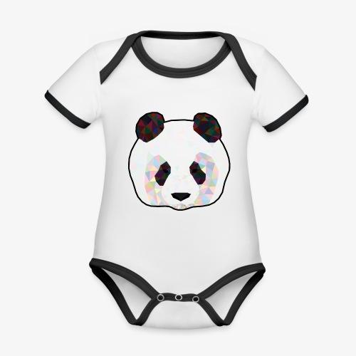 Panda - Body Bébé bio contrasté manches courtes