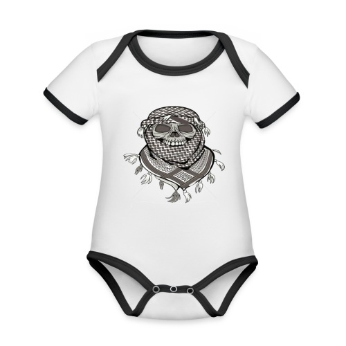 Krieger - Baby Bio-Kurzarm-Kontrastbody