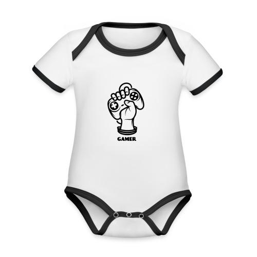 Gamer - Baby Bio-Kurzarm-Kontrastbody