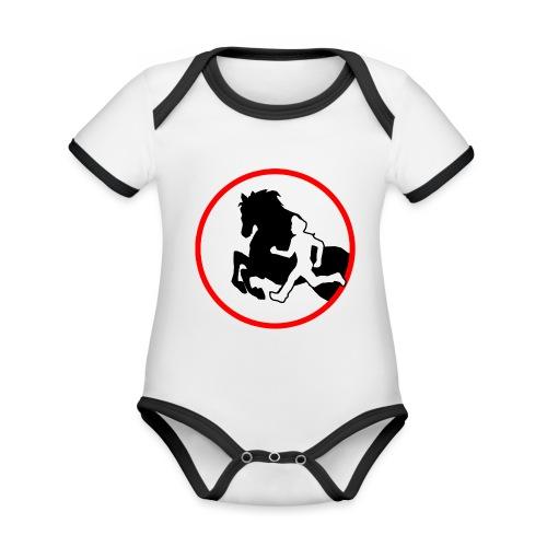 Horse Agility Logo - Baby Bio-Kurzarm-Kontrastbody