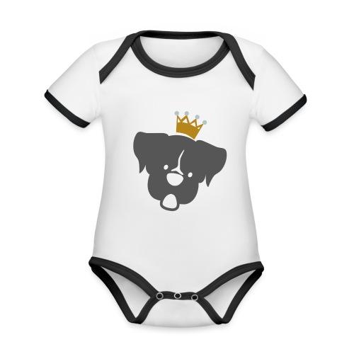 Prinz Poldi grau - Baby Bio-Kurzarm-Kontrastbody