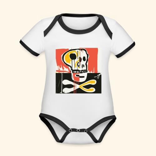 Memento - Body Bébé bio contrasté manches courtes