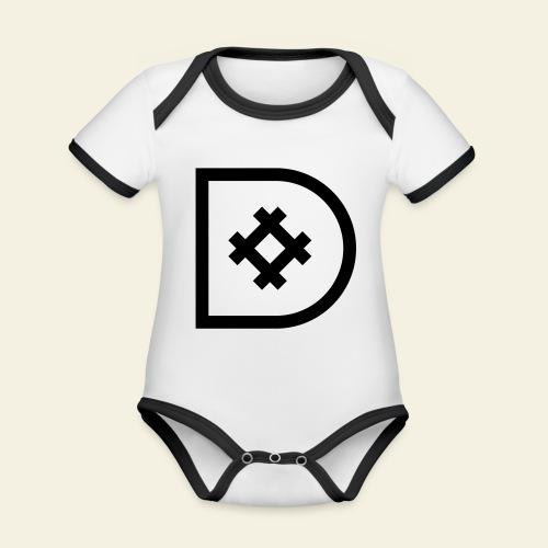Icona de #ildazioètratto - Body da neonato a manica corta, ecologico e in contrasto cromatico