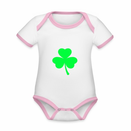 suerte - Body contraste para bebé de tejido orgánico