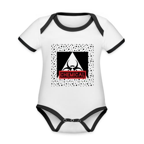 CHEMICAL - Body da neonato a manica corta, ecologico e in contrasto cromatico