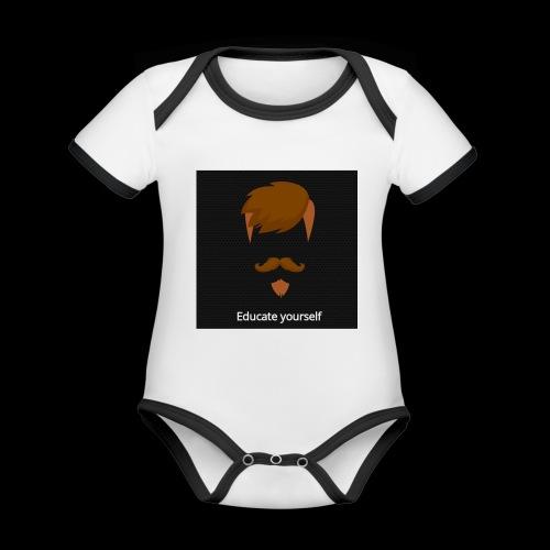 educate yourself - Organic Baby Contrasting Bodysuit