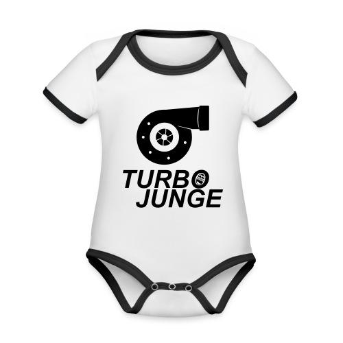 Turbojunge! - Baby Bio-Kurzarm-Kontrastbody