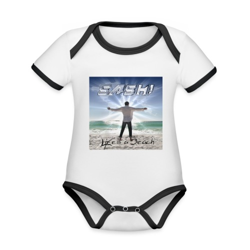 Life Is A Beach Cover - Organic Baby Contrasting Bodysuit